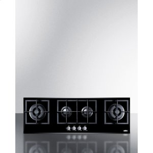 4-burner Island Gas-on-glass Cooktop With Sealed Burners and Cast Iron Grates -