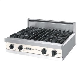 "Oyster Gray 30"" Open Burner Rangetop - VGRT (30"" wide, four burners)"