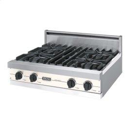 "Oyster Gray 30"" Open Burner Rangetop - VGRT (30"" wide, four burners)"