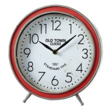 "Round Red ""Old Town Clocks"" Desk Clock."