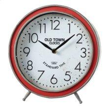 "Round Red ""Old Town Clocks"" Desk Clock."