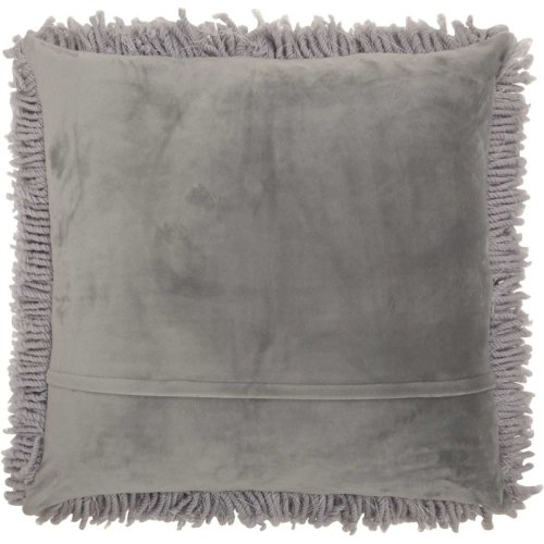 "Shag Tl003 Light Grey 18"" X 18"""