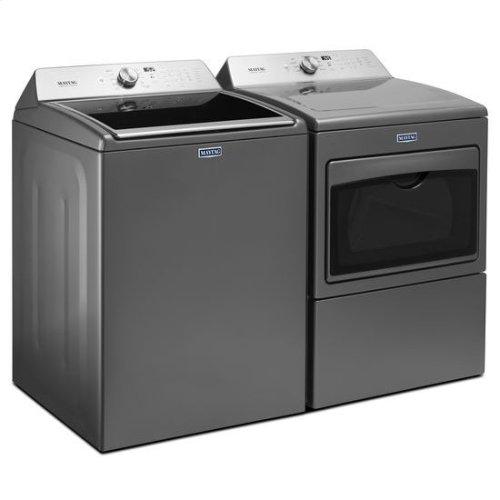 "Maytag® Large Capacity Electric Dryer with IntelliDry® Sensor "" 7.4 cu. ft. - Metallic Slate"