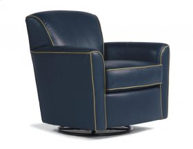 Kingman Leather Swivel Glider