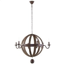 Catapult Chandelier in Antique Brass
