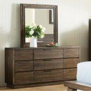 Modern Gatherings Two - Portrait Mirror - Brushed Acacia Finish Product Image