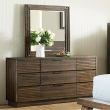Modern Gatherings Two - Portrait Mirror - Brushed Acacia Finish