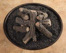 Ceramic Log Kit W/ Lava Granules