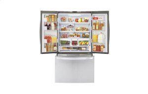 Large Capacity Counter Depth 3 Door French Door Refrigerator