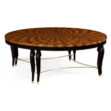 Feather Inlay Coffee Table