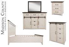 Madison County Door Dresser - Vintage White