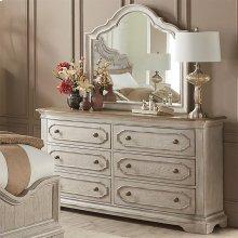 Elizabeth - Six Drawer Dresser - Smokey White/antique Oak Finish
