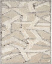 CHRISTOPHER GUY WOOL COLLECTION CGW16 EGGSHELL/MISTED MORNING SQUARE RUG 8' x 8'