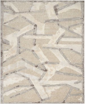 Christopher Guy Wool Collection Cgw16 Eggshell/misted Morning Round Rug 10' X 10'
