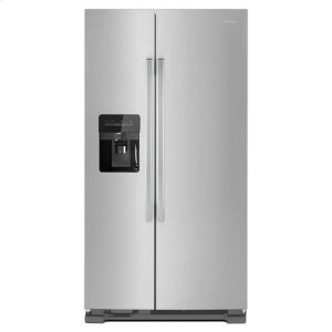 Amana33-inch Side-by-Side Refrigerator with Dual Pad External Ice and Water Dispenser - stainless steel