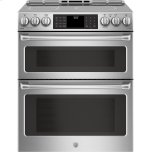 "GE Cafe(TM) Series 30"" Slide-In Front Control Induction and Convection Double Oven Range"