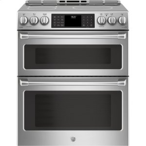 "GE Cafe30"" Slide-In Front Control Induction and Convection Double Oven Range"