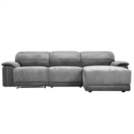 3-Piece Modular Reclining Sectional with Right Chaise