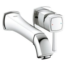 Grandera Two-Hole Wall Mount Bathroom Faucet M-Size