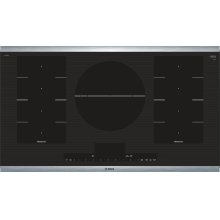 """Benchmark® 36"""" FlexInduction® Cooktop, NITP668SUC, Black with Stainless Steel Frame"""