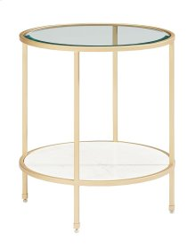 Stone/marble Ellipse End Table