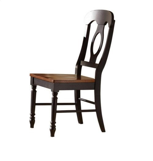 RED HOT BUY- BE HAPPY ! Sunset Trading Napoleon Dining Chair in Antique Black and Cherry