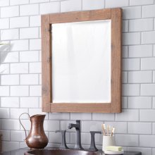 Whitewash Americana Mirror
