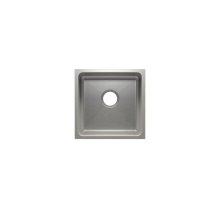 "Classic 003225 - undermount stainless steel Bar sink , 15"" × 15"" × 7"""
