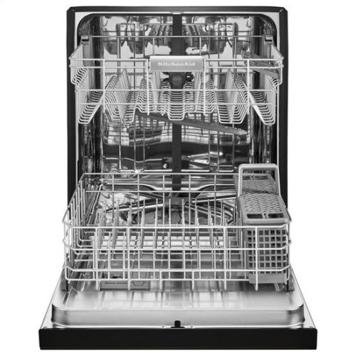 KitchenAid® 46 DBA Dishwasher with ProWash™ Cycle and PrintShield™ Finish, Front Control - Black-on-Stainless