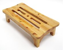 """AB4408 24"""" Solid Wood Stepping Stool for Easy Access"""