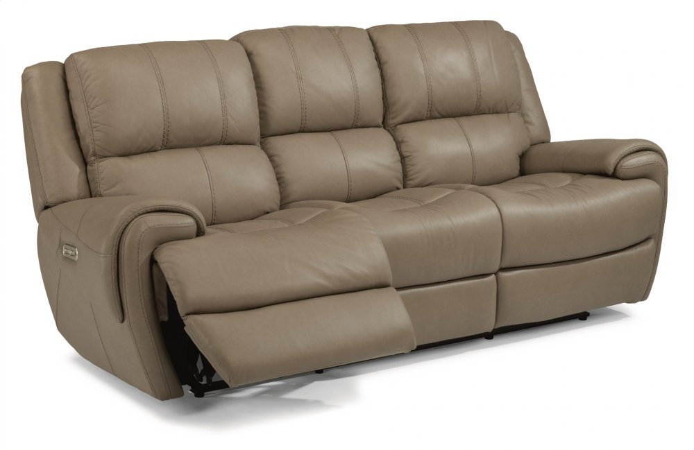 Perfect Nance Leather Power Reclining Sofa With Power Headrests