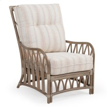 Rattan Lounge Chair in Weather Grey 8801