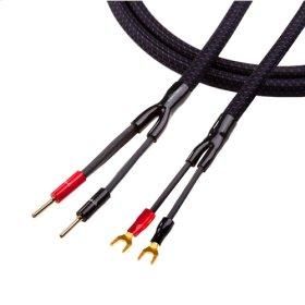 Series 6 Speaker 2-spring slip banana plugs > 4-spade lugs 8ft