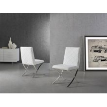The Loft White Eco-leather Dining Chair