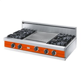 "Pumpkin 42"" Open Burner Rangetop - VGRT (42"" wide, four burners 18"" wide griddle/simmer plate)"