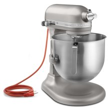 NSF Certified® Commercial Series 8-Qt Bowl Lift Stand Mixer - Nickel Pearl