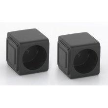 Cube Shower Rod Brackets A6546 - Bronze