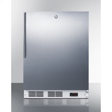 ADA Compliant Built-in Medical All-freezer Capable of -25 C Operation, With Lock, Stainless Steel Door, Thin Handle, and White Cabinet