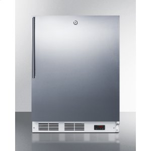 ADA Compliant Built-in Medical All-freezer Capable of -25 C Operation, With Lock, Stainless Steel Door, Thin Handle, and White Cabinet -