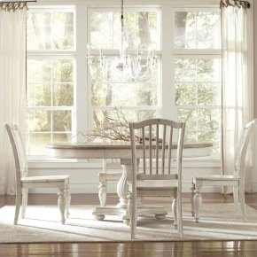 Coventry Two Tone - Table Pedestal - Weathered Driftwood/dover White Finish