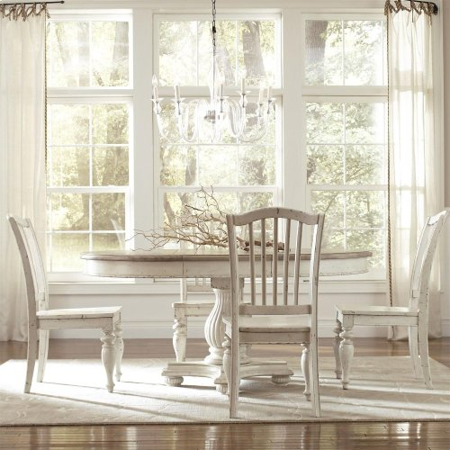 Coventry Two Tone - Round Dining Table Top - Weathered Driftwood/dover White Finish