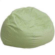 Oversized Green Dot Bean Bag Chair
