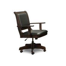 Office Chair with Gas Lift, Tilt, Swivel Base, in Fabric or Bonded Leather