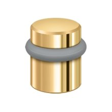 "Round Universal Floor Bumper 1-1/2"", Solid Brass - PVD Polished Brass"