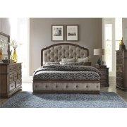 Queen Uph Bed, Dresser & Mirror, Nitestand Product Image