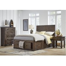 Jackson Lodge Twin Footboard With Drawer and Slats