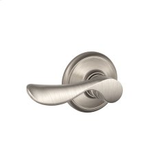 Champagne Lever Hall & Closet Lock - Satin Nickel