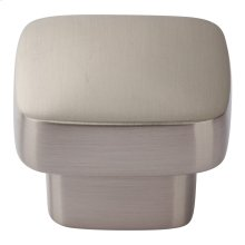 Chunky Square Knob Medium 1 7/16 Inch - Brushed Nickel