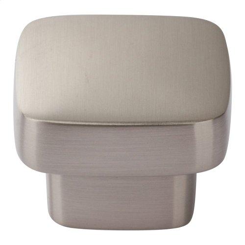 Chunky Square Knob Medium 1 7/16 Inch - Brushed Nickel