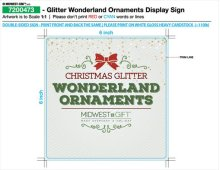 Glitter Wonderland Ornaments Sign.